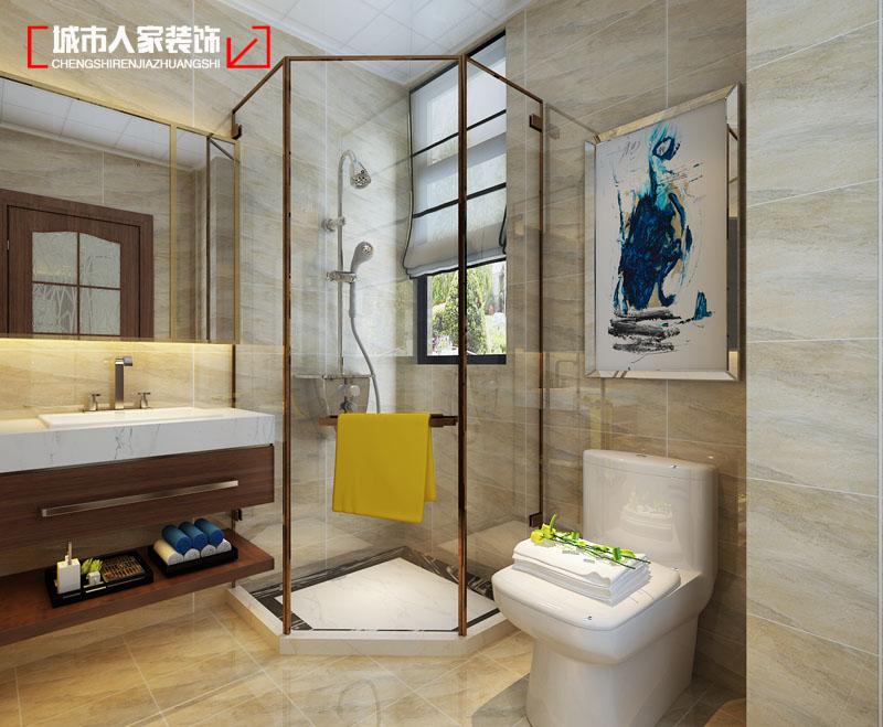 简约 太原城市人 设计案例 太原最好的 装修 卫生间图片来自太原城市人家原卯午在【怡佳天一城】170平米现代简约的分享