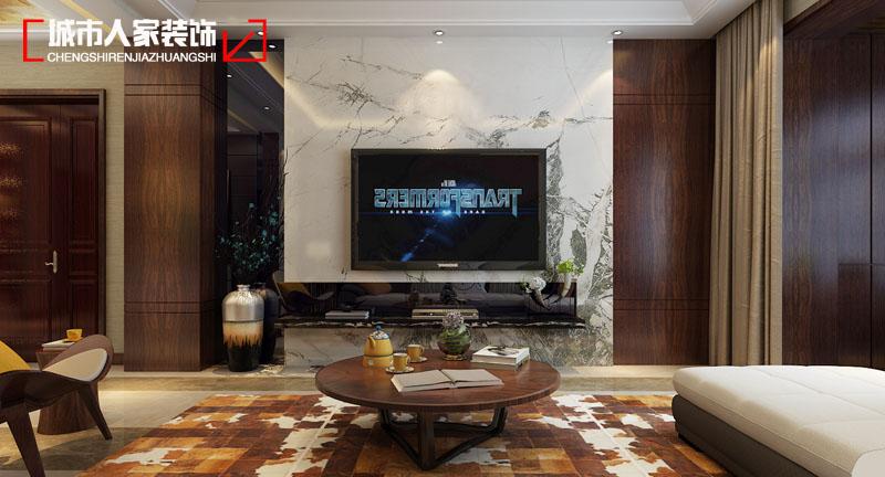 简约 太原城市人 设计案例 装修 客厅图片来自太原城市人家原卯午在【怡佳天一城】170平米现代简约的分享