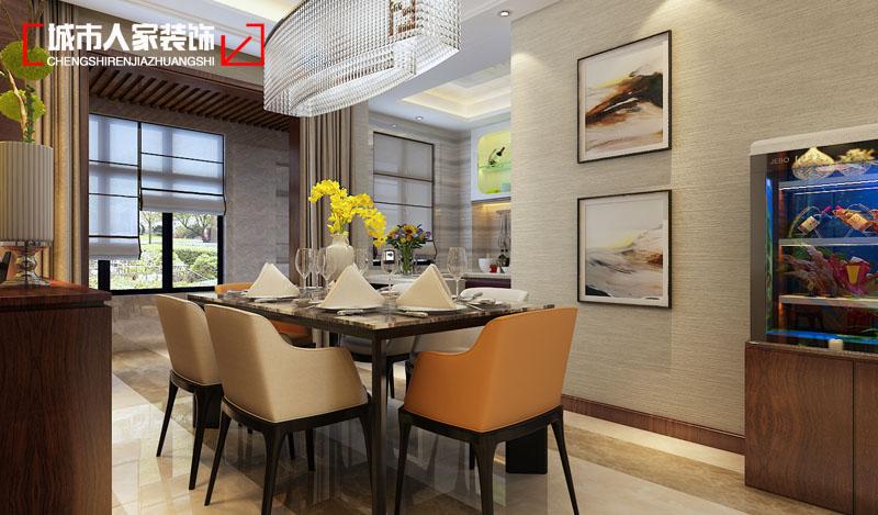 简约 太原城市人 设计案例 太原最好的 装修 餐厅图片来自太原城市人家原卯午在【怡佳天一城】170平米现代简约的分享