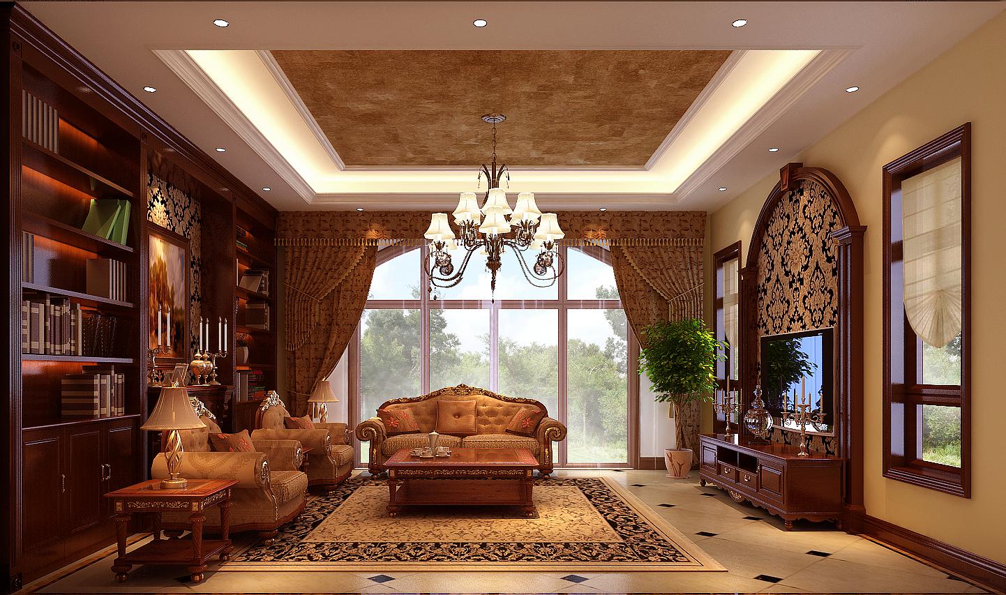 欧式 别墅 豪华图片来自北京高度国际装饰在377平米欧式古典豪华大别墅的分享