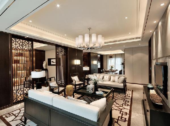 阳光城地产中式风格客厅装修