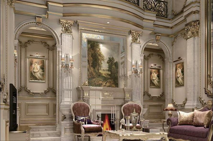 欧式 别墅 卧室图片来自乐粉_20170228091152557在法式宫廷风格大宅作品的分享
