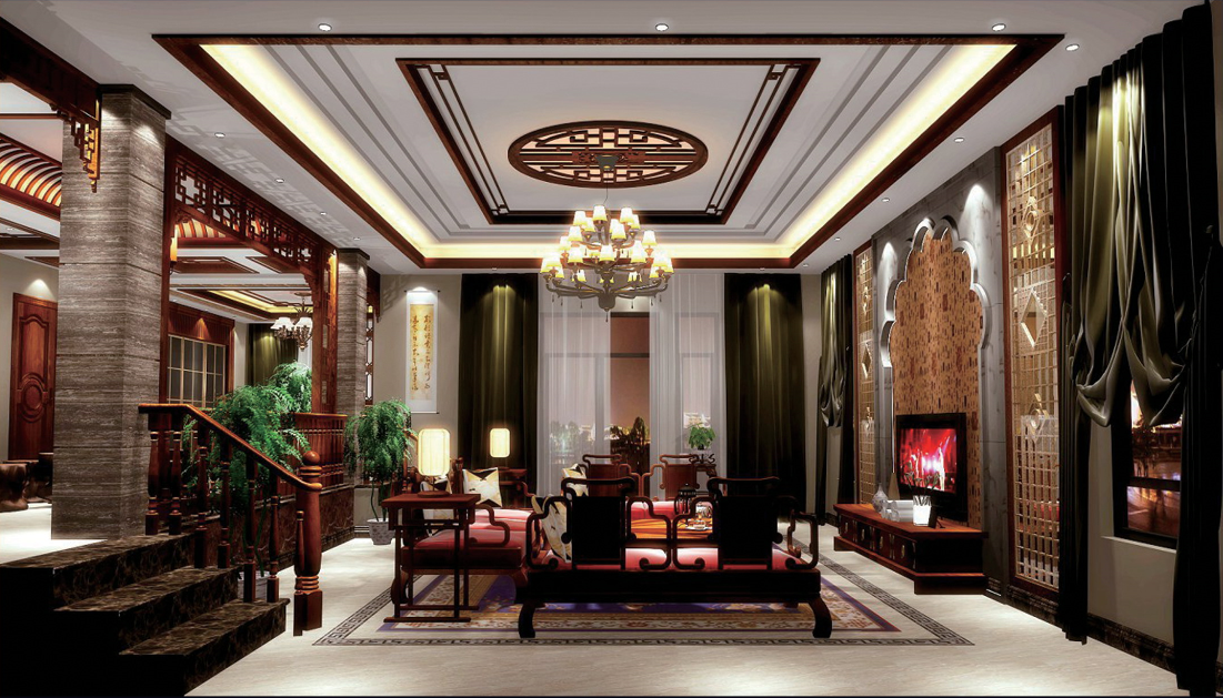 别墅 客厅图片来自乐粉_20170228091152557在古典中式风格大宅作品的分享