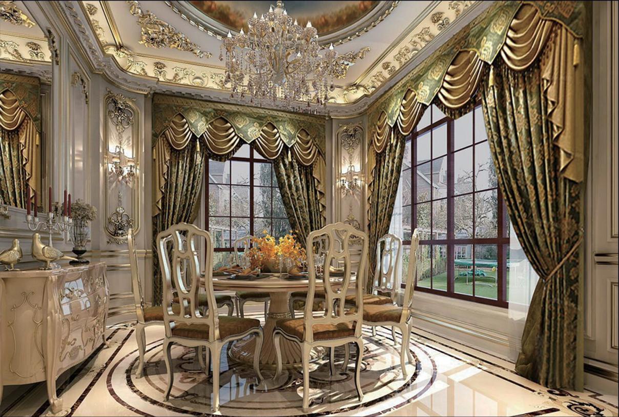 欧式 别墅 餐厅图片来自乐粉_20170228091152557在法式宫廷风格大宅作品的分享