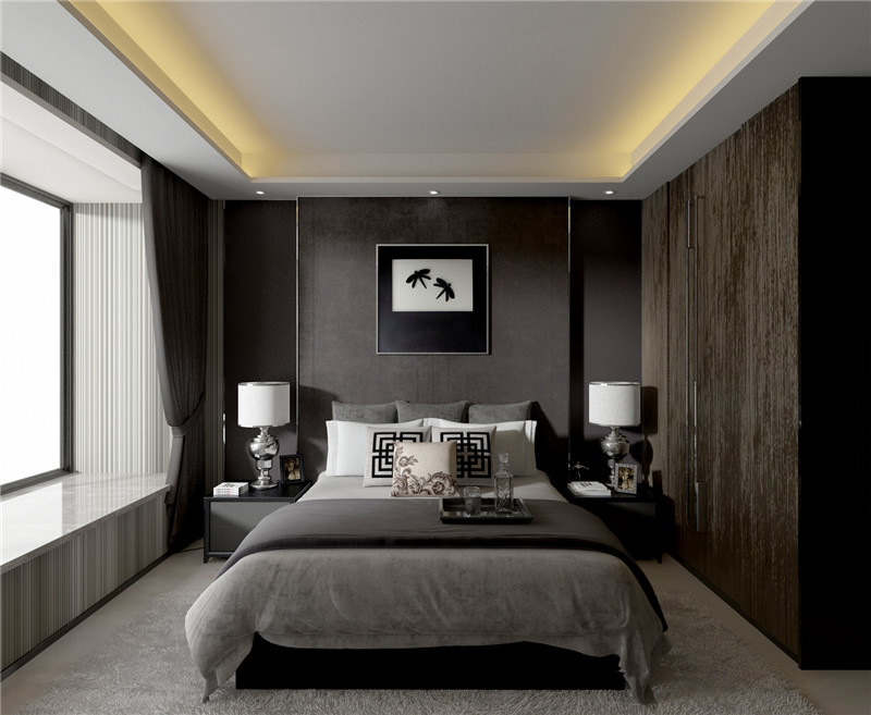龙发装饰 现代简约 卧室图片来自龙发装饰天津公司在诺德89平米现代简约风格的分享