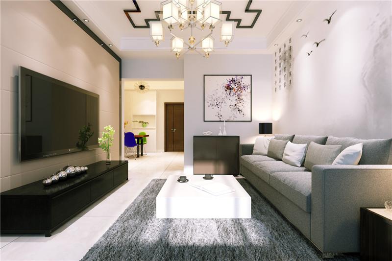 客厅图片来自龙发装饰天津公司在诺德89平米现代简约风格的分享