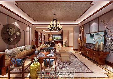 沈阳客厅180平新中式风格