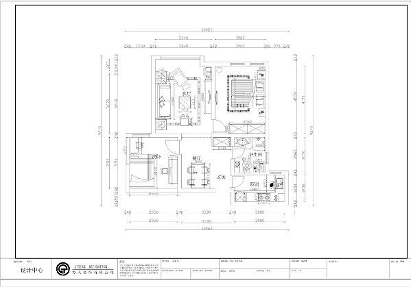 本案例为雅士兰亭户型,户型面积约为85平米。