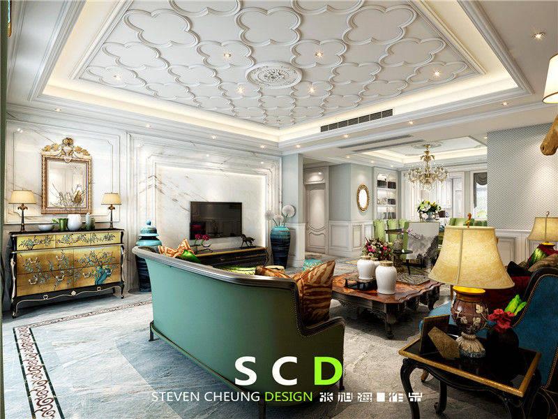 客厅图片来自日升嬛嬛在复式简美风格装修的分享