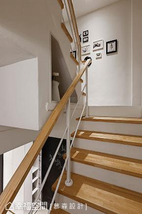 四房 简约 收纳 混搭 楼梯图片来自幸福空间在木棉花语。净白温润铺述的分享