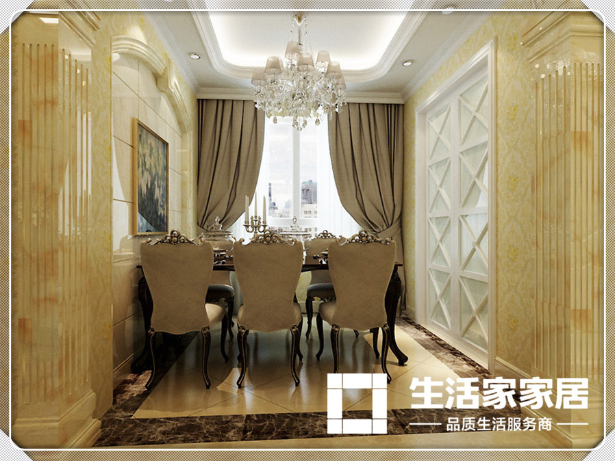 欧式 生活家家居 餐厅图片来自天津生活家健康整体家装在爱家新河-欧式风格的分享