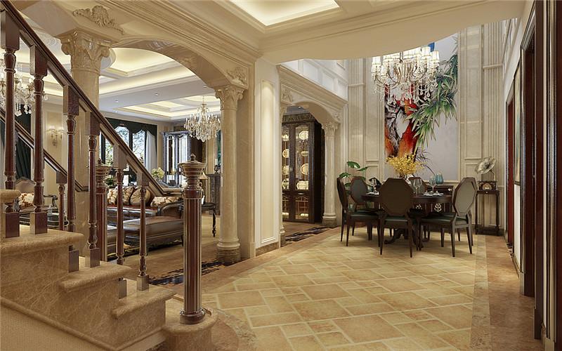 别墅 欧式 餐厅图片来自轻舟装饰-90后的华仔在翡丽庄园-380平米-简约欧式的分享