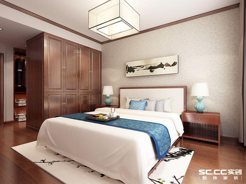 二居 实创 中式 白领 卧室图片来自快乐彩在二居室中式保利茉莉公馆112平的分享