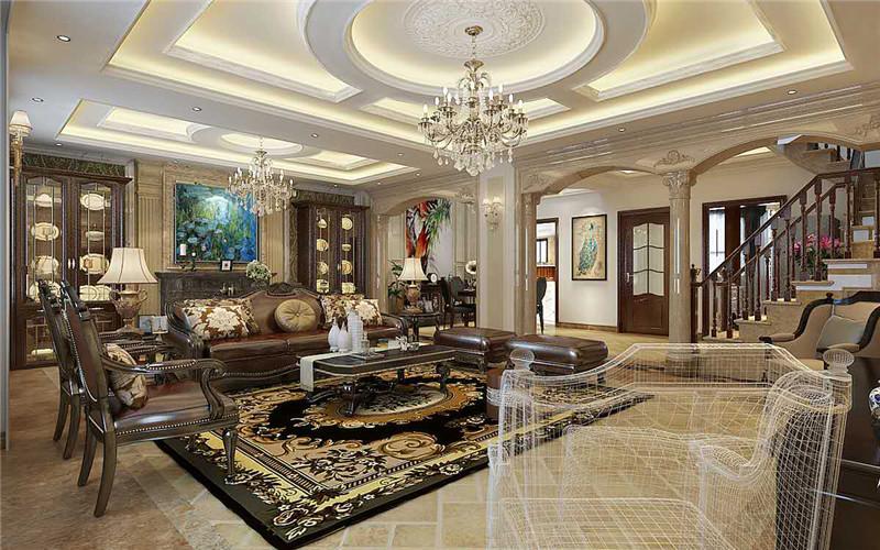 客厅图片来自轻舟装饰-90后的华仔在翡丽庄园-380平米-简约欧式的分享