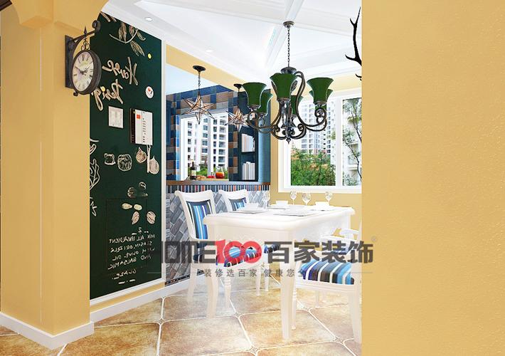 混搭 三居图片来自百家装饰小西在奉天九里140平美式混搭风格的分享