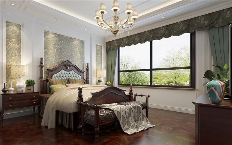 别墅 欧式 卧室图片来自轻舟装饰-90后的华仔在翡丽庄园-380平米-简约欧式的分享