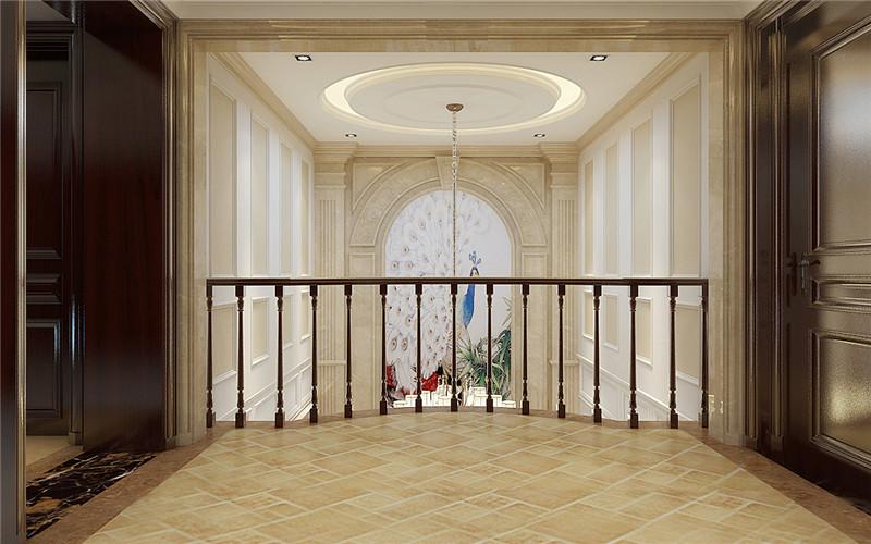 别墅 欧式 楼梯图片来自轻舟装饰-90后的华仔在翡丽庄园-380平米-简约欧式的分享