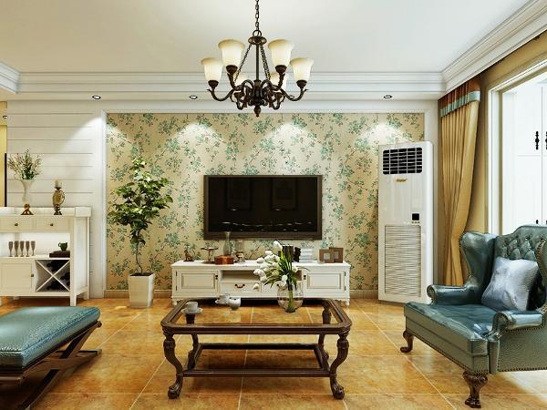 三室的房子,做了小简欧的感觉,电视墙用了石膏板跟壁纸搭配,满满的温馨感~