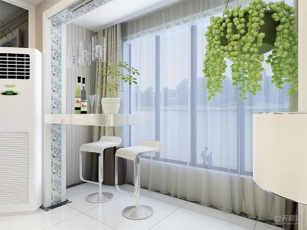 现代简约就是以简单为主要,客厅的沙发背景墙并没有设计过多复杂的设计,只是挂上了两幅装饰画。