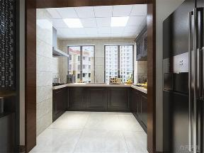 新中式 中式 二居 收纳 小资 厨房图片来自阳光力天装饰在力天装饰-中粮大道-110㎡的分享