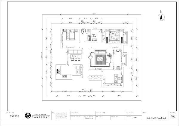 本次的设计风格是 新中式风格 社会山南苑三室两厅一厨两卫 120平米。