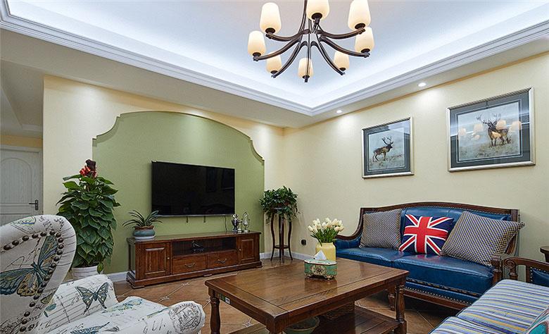 客厅图片来自家装大管家在畅享休闲时尚 135平美式雅致3居的分享