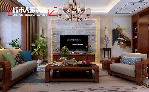 太原骊苑设计170平米中式效果图