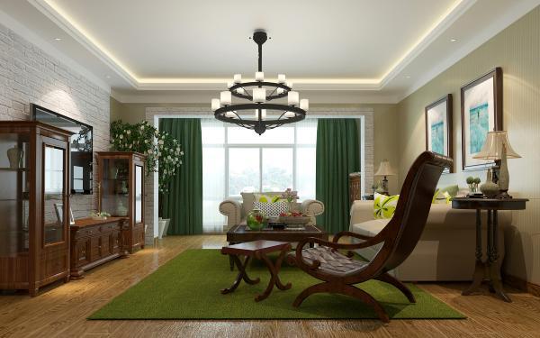客厅作为待客区域,简洁明快,同时装修较其它空间要更明快光鲜。