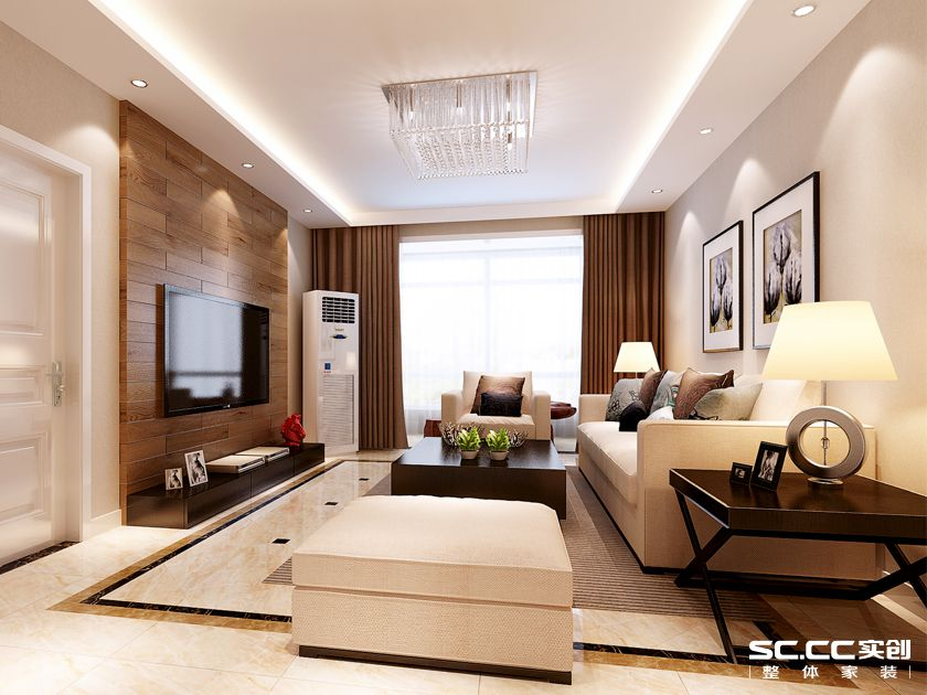 三居室 万科 魅力新城 简约 客厅图片来自快乐彩在万科魅力新城125平三居室精装修的分享