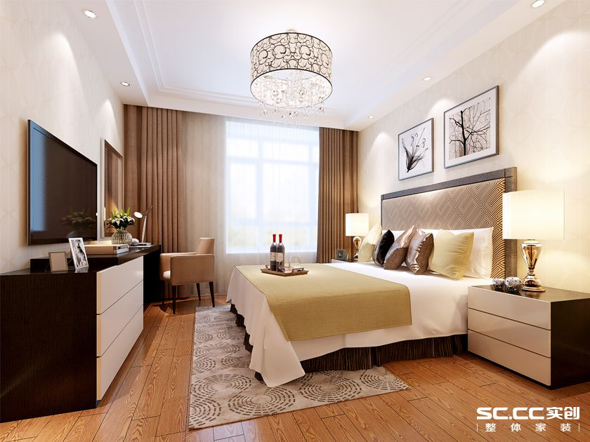 三居室 万科 魅力新城 简约 卧室图片来自快乐彩在万科魅力新城125平三居室精装修的分享