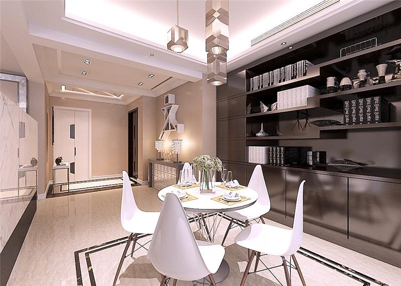 龙发装饰 官邸壹号 三居室 现代 室内装修 餐厅图片来自龙发装饰天津公司在官邸壹号130平米现代风格的分享
