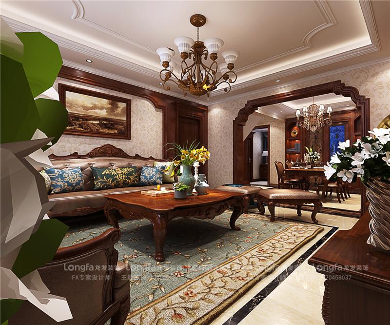 龙发装饰 生态城万通 美式风格 三居室 室内装修 卧室图片来自龙发装饰天津公司在万通新新家园175平米美式风格的分享