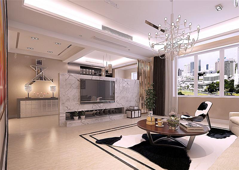 龙发装饰 官邸壹号 三居室 现代 室内装修 客厅图片来自龙发装饰天津公司在官邸壹号130平米现代风格的分享