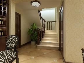 龙发装饰 泊郡 美式 四居室 室内装修 楼梯图片来自龙发装饰天津公司在泊郡200平米美式风格的分享