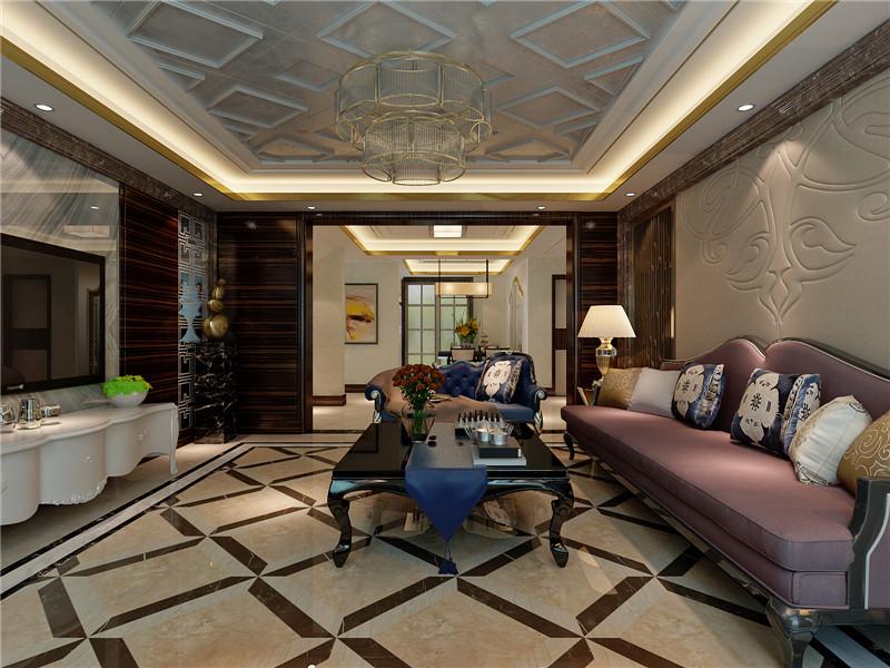 龙发装饰 新家园 万通新 四居 混搭 复式 客厅图片来自龙发装饰天津公司在万通新新家园130平米混搭风格的分享