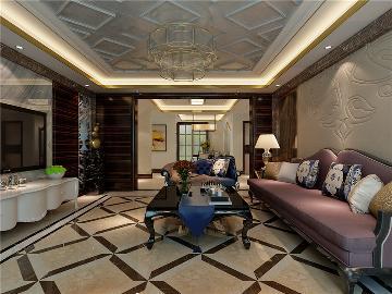万通新新家园130平米混搭风格