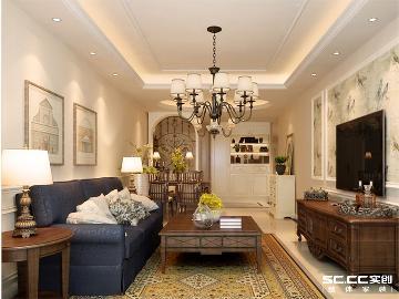 海尔云街96平美式两居室