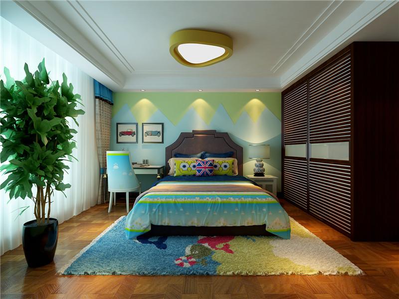 龙发装饰 新家园 万通新 四居 混搭 复式 儿童房图片来自龙发装饰天津公司在万通新新家园130平米混搭风格的分享