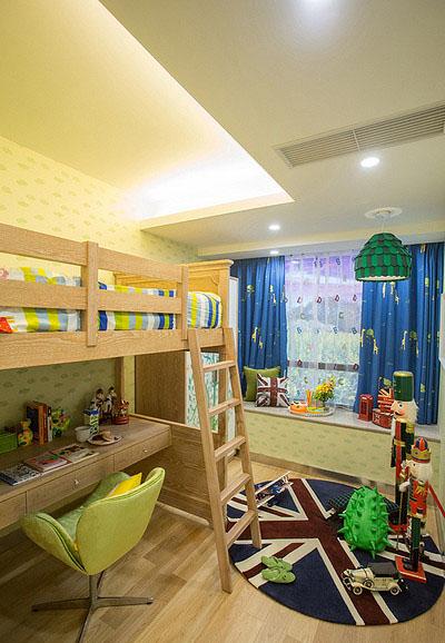 儿童房图片来自家装大管家在清新小资 89平港式自然简约空间的分享