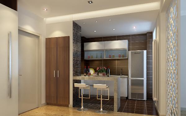 餐区部分与开放式厨房完美搭配,让情境分享成为此案的另一主题。为了增加方便性,书房的设计挪到原餐厅区,自然小清新的感觉就像直接从咖啡馆里搬来一样。