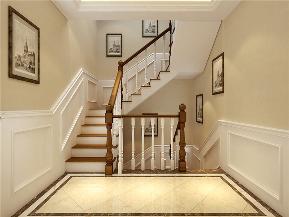 龙发装饰 滨海壹号 二居 美式 装修 楼梯图片来自龙发装饰天津公司在中建滨海壹号160平米美式风格的分享