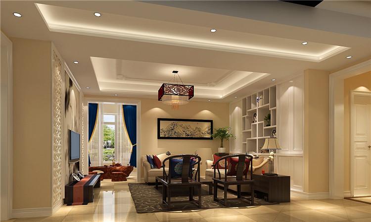 简约 三居 白领 客厅图片来自北京高度国际装饰在K2百合湾简约中式120㎡的分享