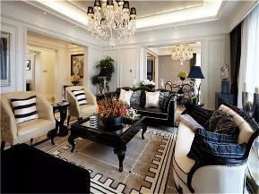美式 新古典 三居 白领 小资 客厅图片来自沙漠雪雨在168平米美式新古典奢华浪漫格调的分享