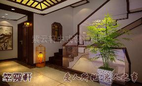 简约 中式 别墅 楼梯图片来自紫云轩中式装修在简约别墅中式装修的分享