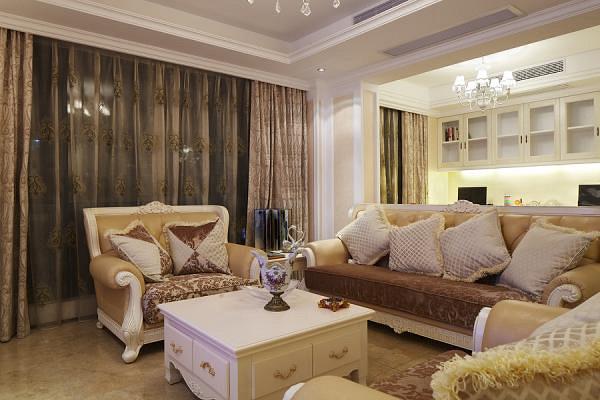 欧式 三居 白领 80后 小资 客厅图片来自武汉全有装饰在奥山世纪城128平欧式风格的分享