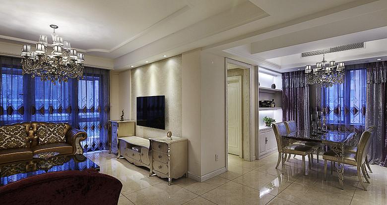 欧式 混搭 二居 白领 客厅图片来自武汉全有装饰在广电兰亭荣荟81平现代欧式风格的分享