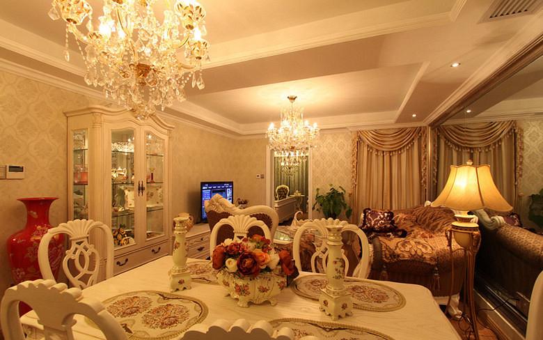 欧式 二居 小资 餐厅图片来自武汉全有装饰在广电兰亭荣荟83平欧式风格的分享