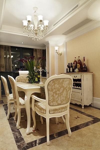 欧式 三居 白领 80后 小资 餐厅图片来自武汉全有装饰在奥山世纪城128平欧式风格的分享