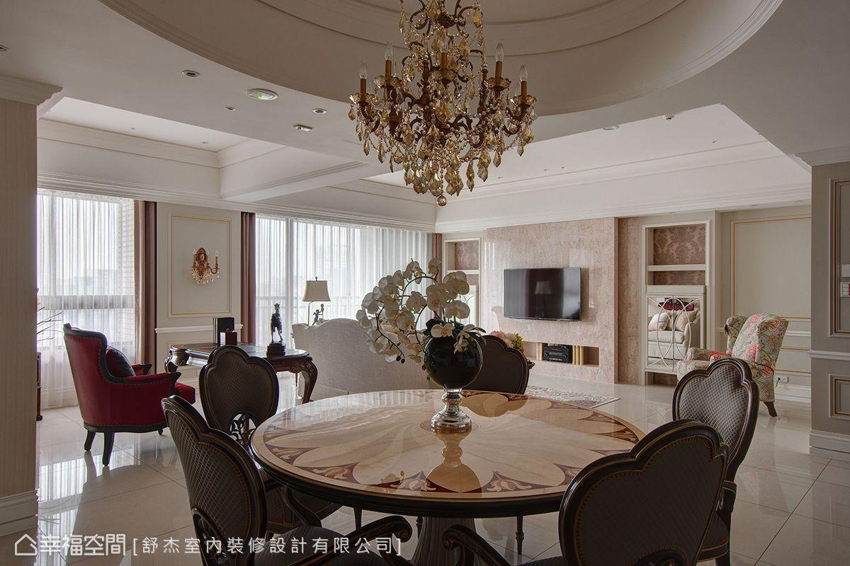 三居 新古典 简约 收纳 餐厅图片来自幸福空间在法式金典的分享