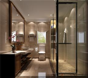 四居 中式 白领 80后 小资 卫生间图片来自北京高度国际装饰在润泽公馆168㎡新中式的分享